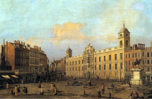 Vista de Charing Cross, Londres, hacia 1752, por Canaletto
